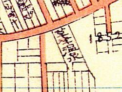 1926年(大正15)の「下落合事情明細図」にみる「草津温泉」