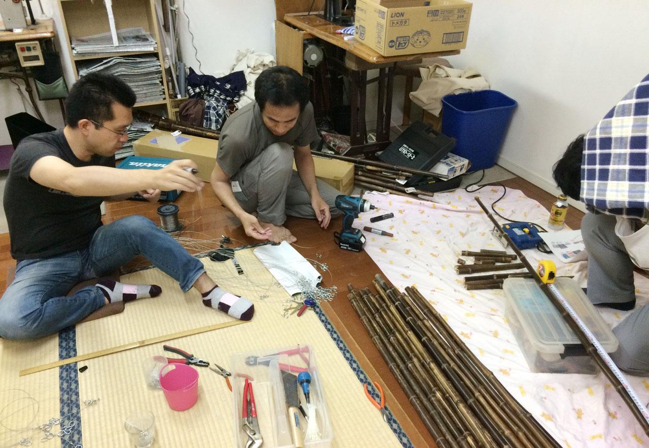 新宿タカシマヤ:染の小道のれん展